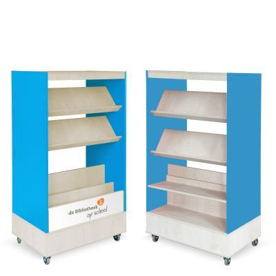 Foxis Browser Boekenkast Hybride Dubbelzijdig - oceaanblauw - ahorn