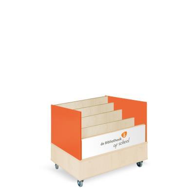 Foxis browserkast enkelzijdig B900 x D600 x H700 mm - ahorn-oranje