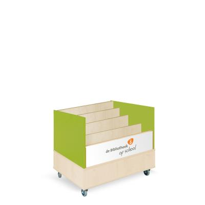 Foxis browserkast enkelzijdig B900 x D600 x H700 mm - ahorn-avocadogroen