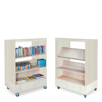 Foxis boekenkast dubbelzijdig B900 x D600 x H1340 mm - ahorn