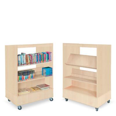 Foxis boekenkast dubbelzijdig B900 x D600 x H1340 mm - beuken