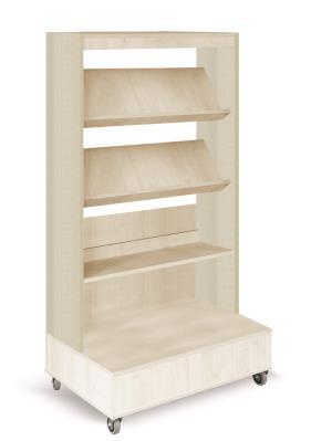 Foxis boekenkast enkelzijdig verrijdbaar B900 x D600 x H1660 mm - ahorn