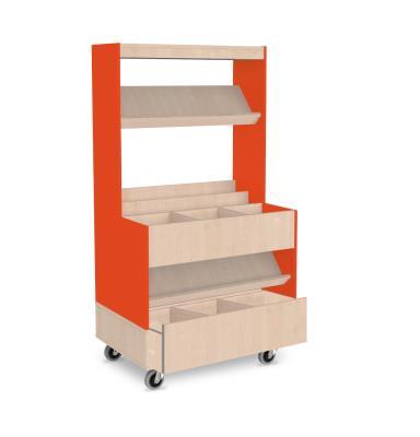 Foxis makkelijk lezen plein met lade - oranje-ahorn