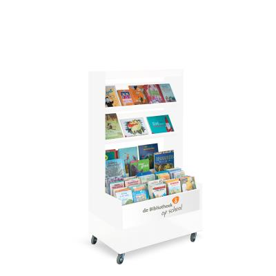 Foxis browser boekenkast enkelzijdig B900 x D600 x H1660 mm - wit