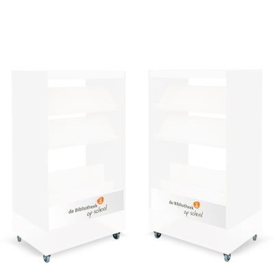 Foxis browser boekenkast dubbelzijdig B900 x D600 x H1660 mm - wit