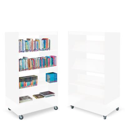 Foxis boekenkast dubbelzijdig B900 x D600 x H1660 mm - wit
