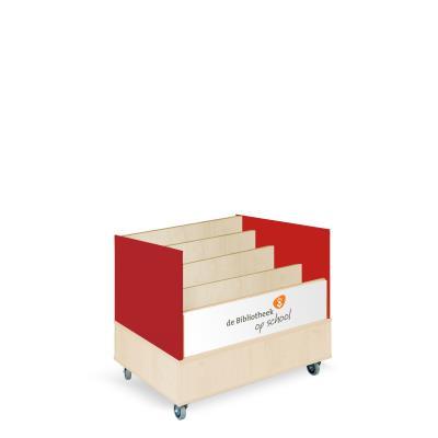 Foxis browserkast enkelzijdig B900 x D600 x H700 mm - ahorn-rood