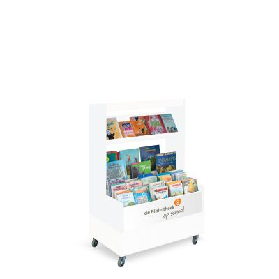 Foxis browser boekenkast enkelzijdig B900 x D600 x H1340 mm - wit