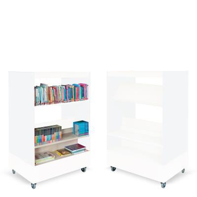 Foxis boekenkast dubbelzijdig B900 x D600 x H1340 mm - wit