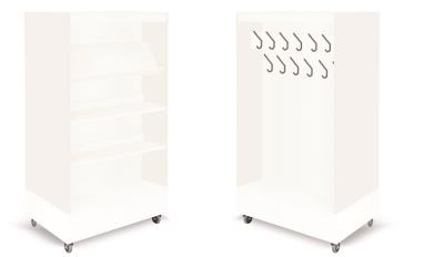 Foxis boekenkast met kapstok B900 x D600 x H1660 mm - wit