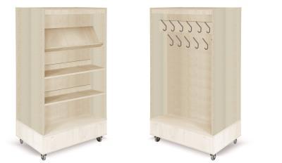 Foxis boekenkast met kapstok B900 x D600 x H1660 mm - ahorn