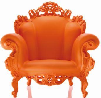 Voorleesstoel Proust, oranje