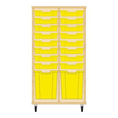 Storix Materiaalkast 51 beuken, B710xH1200xD465 - laden geel