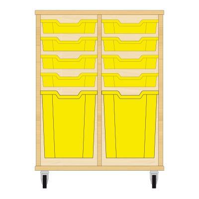 Storix Materiaalkast 51 beuken, B710xH856xD465 - laden geel