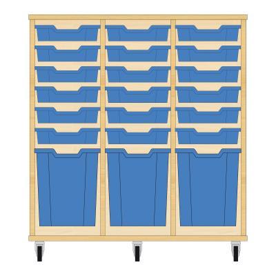 Storix Materiaalkast 51 beuken, B1050xH1028xD465 - laden blauw