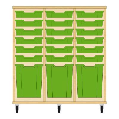 Storix Materiaalkast 51 beuken, B1050xH1028xD465 - laden groen