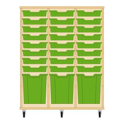 Storix Materiaalkast 51 beuken, B1050xH1200xD465 - laden groen