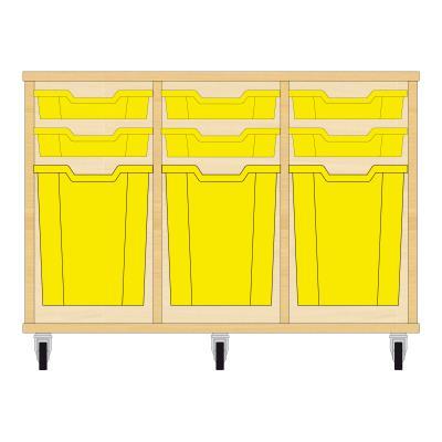 Storix Materiaalkast 51 beuken, B1050xH684xD465 - laden geel