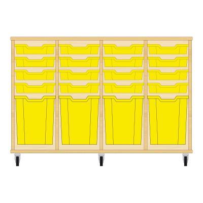 Storix Materiaalkast 51 beuken, B1390xH856xD465 - laden geel