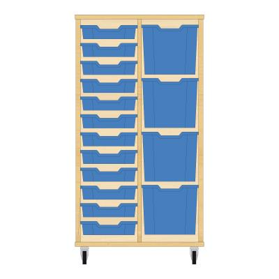Storix Materiaalkast 72 beuken, B710xH1200xD465 - laden blauw