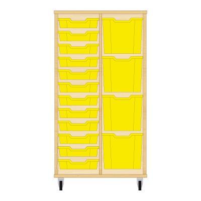 Storix Materiaalkast 72 beuken, B710xH1200xD465 - laden geel
