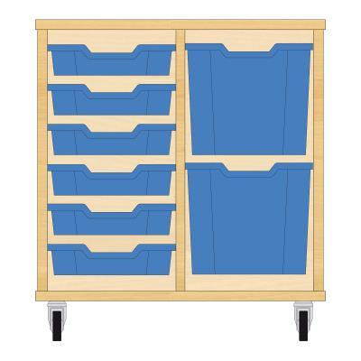 Storix Materiaalkast 72 beuken, B710xH684xD465 - laden blauw
