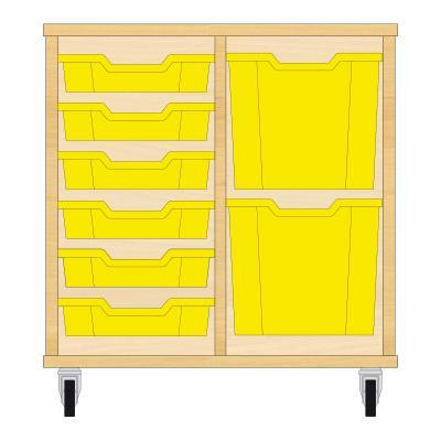 Storix Materiaalkast 72 beuken, B710xH684xD465 - laden geel