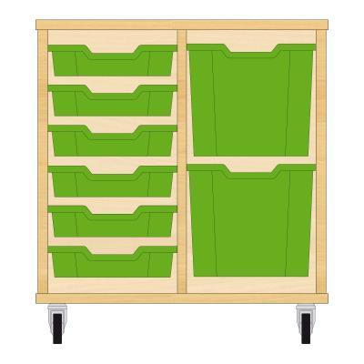 Storix Materiaalkast 72 beuken, B710xH684xD465 - laden groen