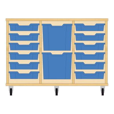 Storix Materiaalkast 82 beuken, B1050xH684xD465 - laden blauw