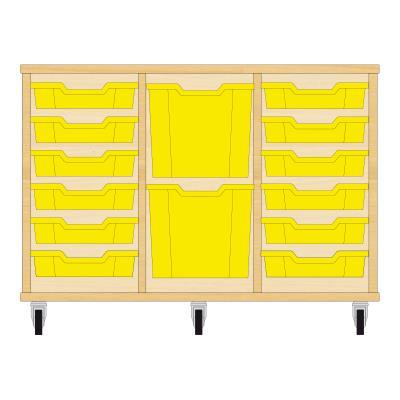 Storix Materiaalkast 82 beuken, B1050xH684xD465 - laden geel