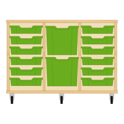 Storix Materiaalkast 82 beuken, B1050xH684xD465 - laden groen