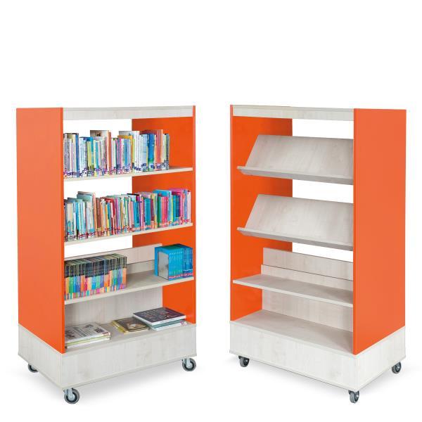Boekenkastje Op Wieltjes.Foxis Boekenkast Dubbelzijdig Biblioshop Nl