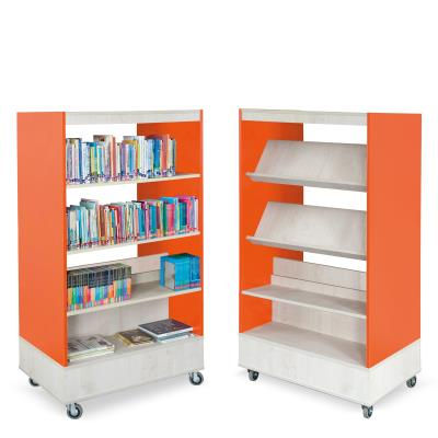Foxis Boekenkast Dubbelzijdig oranje - ahorn