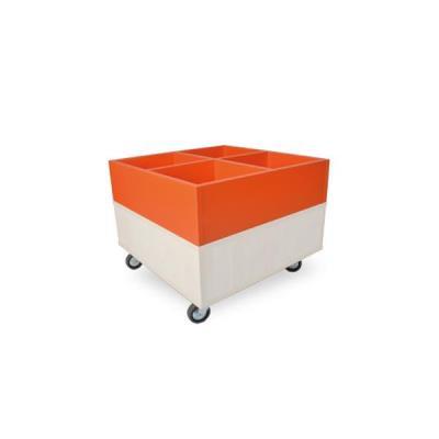 Foxis prentenboekenbak B600 x D600 x H464 mm - ahorn-oranje